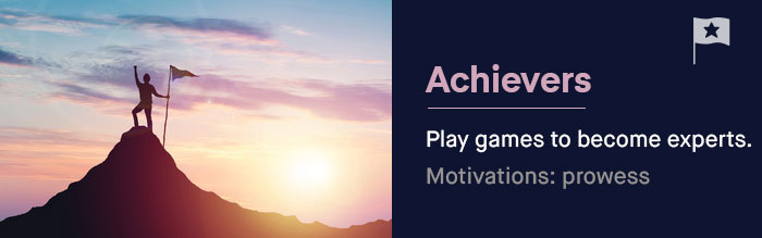 The Achievers: They play games to become experts at them -- and leave with the knowledge that they're the masters of the (game) universe. | UserWise