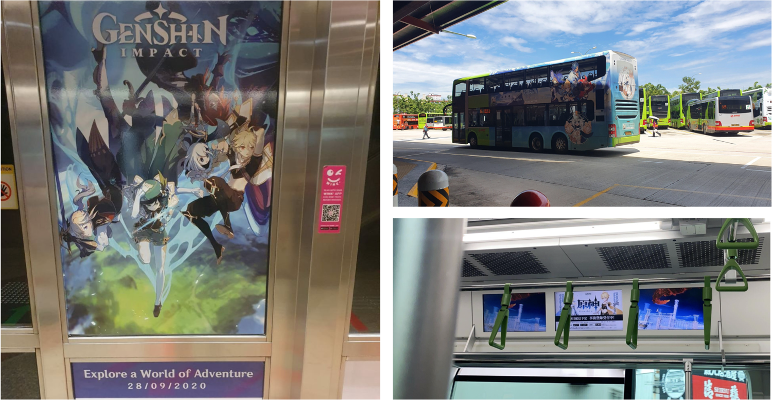 To further augment organic word of mouth advertising, GI also began to run more offline advertising tactics in early September 2020 across major metropolitans.